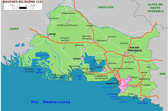 Liste des communes des bouches du rh ne 13 provence 7 for Bouche rhone