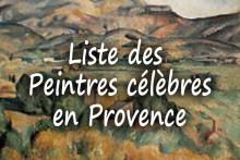 Liste-des-Paintres-Célèbres