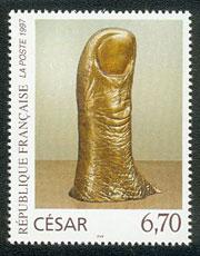 Cesar_pouce_Timbre_France