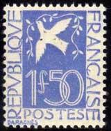 Timbre-Français-Colombe
