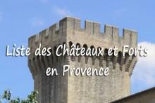 Liste-des-Châteaux-en-Prove