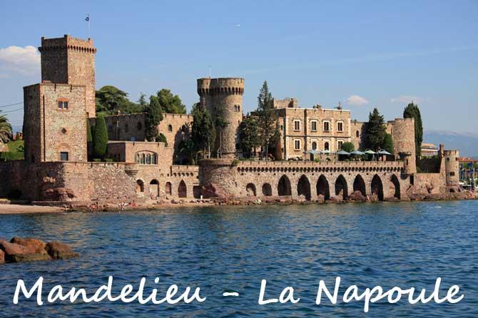 Mandelieu la napoule visiter 06 provence 7 for Piscine du cateau