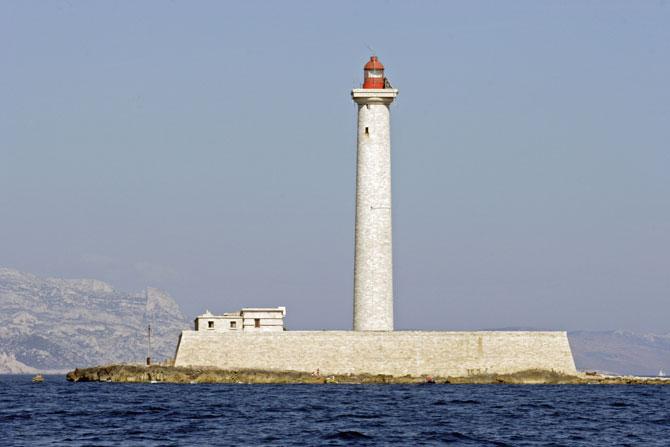 Marseille. Phare du Planier au large