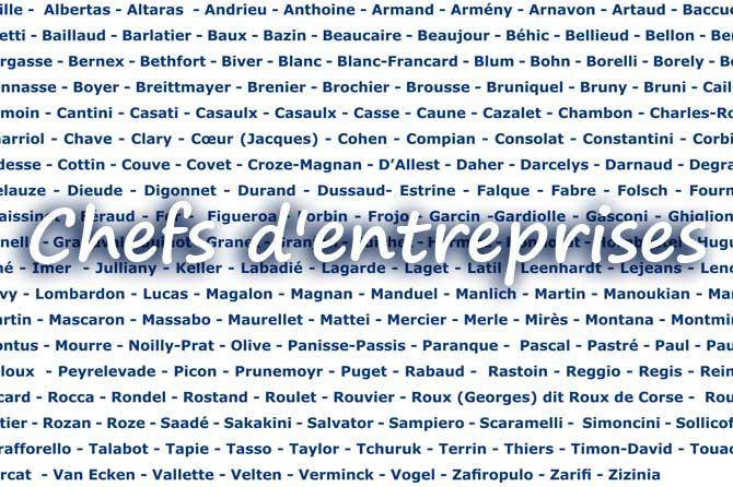 Liste des entrepreneurs en Provence
