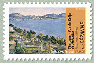 Timbre-Cezanne-Estaque