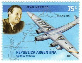 Mermoz_Timbre_Argentine