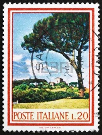 Pin-Parasol-Timbre-Italien