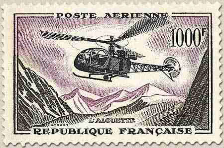 Alouette_Timbre_France_Post