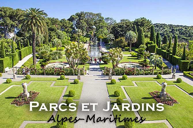 Liste des parcs et jardins des Alpes-Maritimes (06)