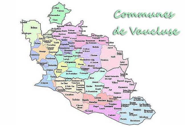 vaucluse villes villages