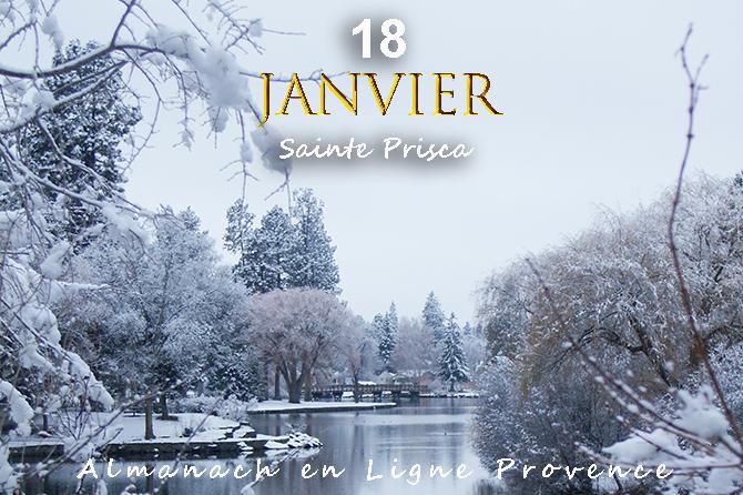 18 janvier en Provence – Sainte Prisca