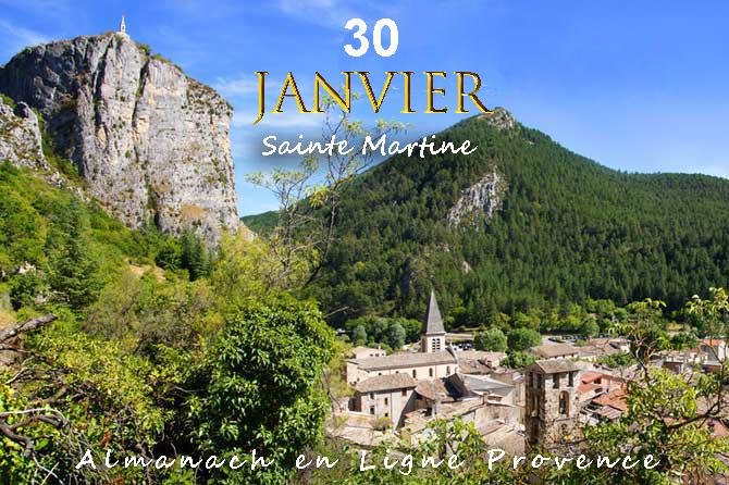 30 Janvier en Provence – Sainte Martine